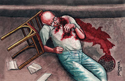 Prison Painting - The Assassination Of A Mob Boss by David Shumate