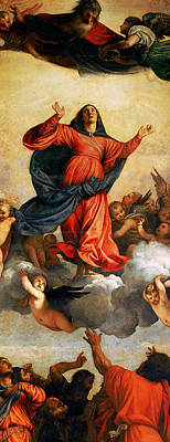 The Assumption Of The Virgin Print by Titian