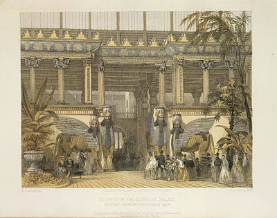 The Assyrian Palace Print by British Library