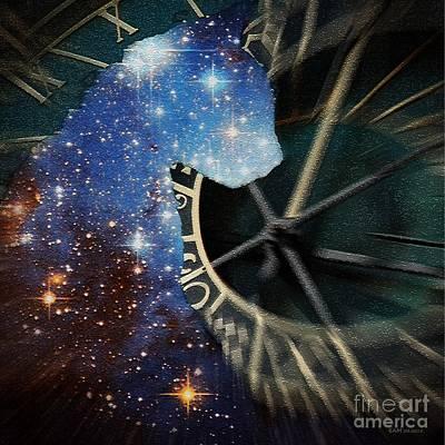 Czech Republic Digital Art - The Astronomer's Cat by Elizabeth McTaggart