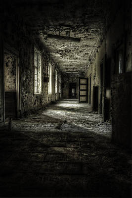 Creepy Photograph - The Asylum Project - Corridor Of Terror by Erik Brede