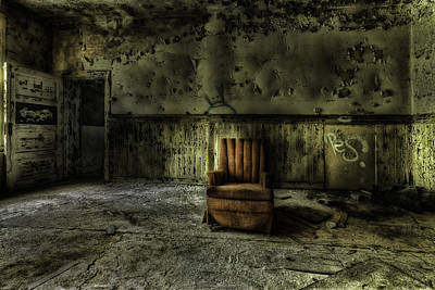 Empty Chairs Photograph - The Asylum Project - The Empty Chair by Erik Brede