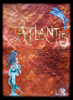 Atlantis Painting - The Atlantis Myth by Absinthe Art By Michelle LeAnn Scott
