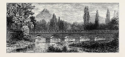 1874 Drawing - The Attack On Prince Bismarck, Bridge Over The Saale by English School