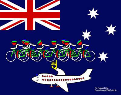Digital Art - The Australians Realy Fly by Asbjorn Lonvig