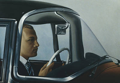 50s Photograph - The Automatic Oil On Canvas by Robert Burkall Marsh
