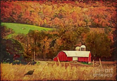 The Autumn Barn Print by Lianne Schneider