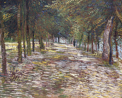 The Avenue At The Park Print by Vincent Van Gogh