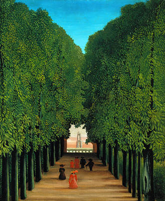 Blue And Red Painting - The Avenue In The Park At Saint Cloud    by Henri Rousseau