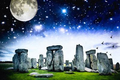 The Awesome Mystery Of Stonehenge Print by Mark E Tisdale