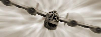 The B - 24 Liberator Panoramic  Print by Mike McGlothlen