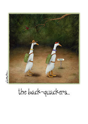 Backpacking Painting - The Back-quackers... by Will Bullas