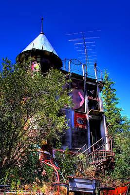 Recycled Art Photograph - The Back Stairs by David Patterson