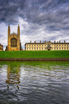 Gothic Photograph - The Backs - Kings College - Cambridge by Mark E Tisdale