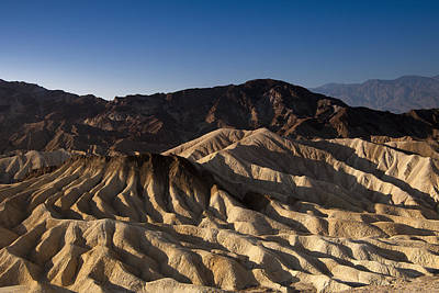The Badlands Of Death Valley Print by Andrew Soundarajan