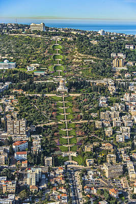 Human Being Photograph - The Bahai Temple In Haifa, Shrine by Ofir Ben Tov