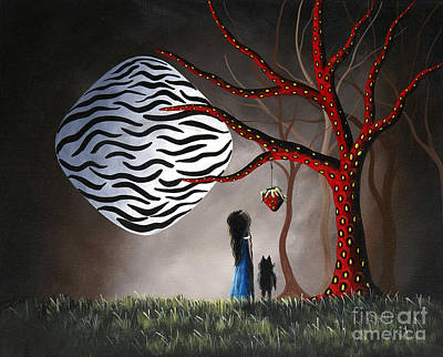 Zebra In Painting - The Bait By Shawna Erback by Shawna Erback
