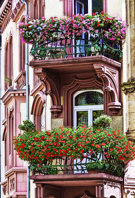Architectural Photograph - The Balcony Flowers by Marcia Colelli