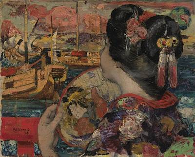 Contemplative Painting - The Balcony, Yokohama by Edward Atkinson Hornel