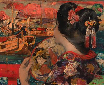 The Balcony Yokohama  Print by Mountain Dreams
