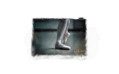 Digital Art - The Ballet Shoes ....  by Jacqueline Schreiber