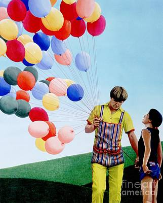 The Balloon Man Original by Michael Swanson