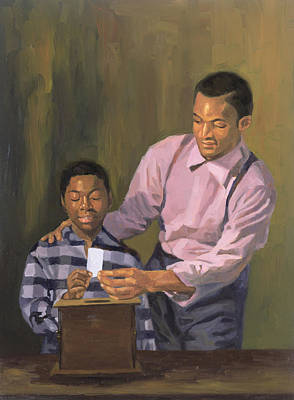 African-american Painting - The Ballot Box by Colin Bootman