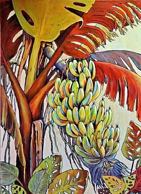 The Banana Tree Print by JAXINE Cummins