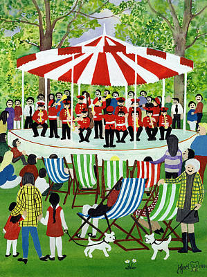 The Bandstand Print by Judy Joel