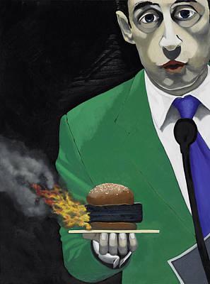 The Banlieu Burger Print by Marcella Lassen