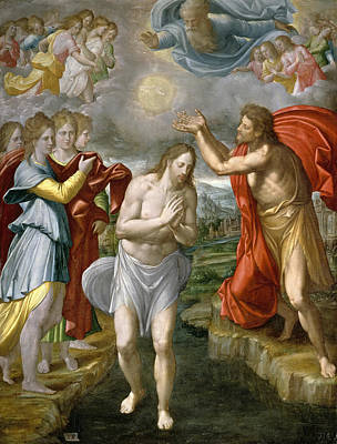 Baptism Of Christ Painting - The Baptism Of Christ by Juan Fernandez Navarrete