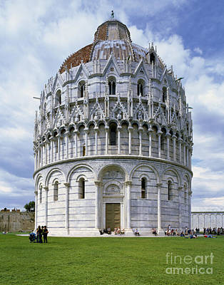 Fourteenth Photograph - The Baptistry, Pisa by Rafael Macia