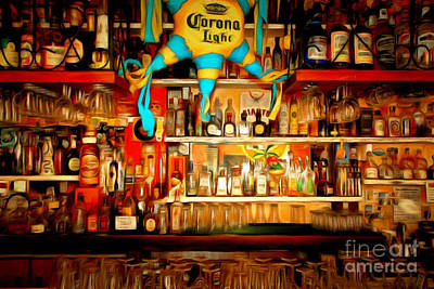 Hangout Digital Art - The Bar 7d14187brun by Wingsdomain Art and Photography