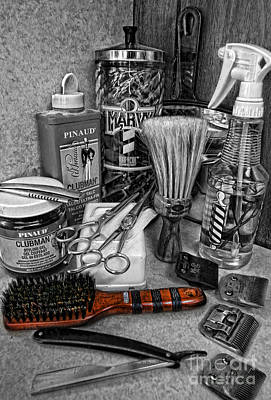Old Time Photograph - The Barber's Brush by Lee Dos Santos