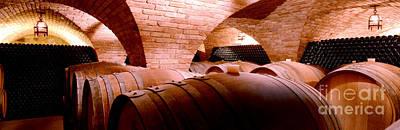 Napa Photograph - The Barrel Room by Jon Neidert