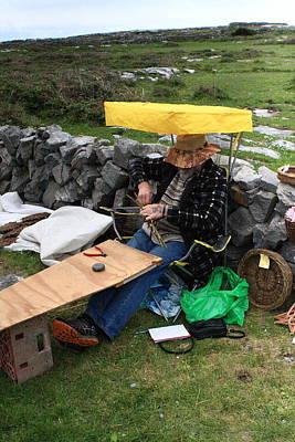 The Basketmaker Of The Aran Islands Print by Aidan Moran