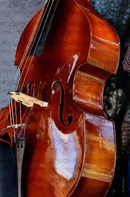 Curves Mixed Media - The Bass Of Music by Kae Cheatham
