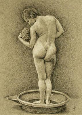 The Bather Original by Alison Schmidt Carson