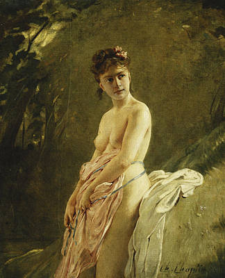 Outdoor Nude Painting - The Bather by Charles Chaplin