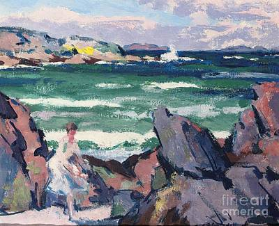 Cloudy Day Painting - The Bather by Francis Campbell Boileau Cadell