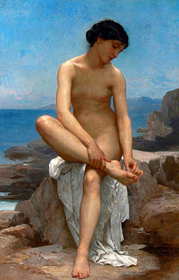 William-adolphe Bouguereau Painting - The Bather by William-Adolphe Bouguereau