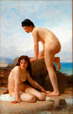 William-adolphe Bouguereau Painting - The Bathers by William-Adolphe Bouguereau