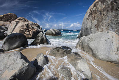 The Baths At Virgin Gorda Bvi Print by Adam Romanowicz