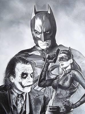 Heath Ledger Painting - The Batman by D A Nuhfer