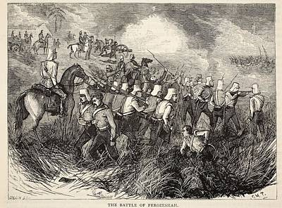 The Battle Of Ferozeshah, Illustration Print by English School
