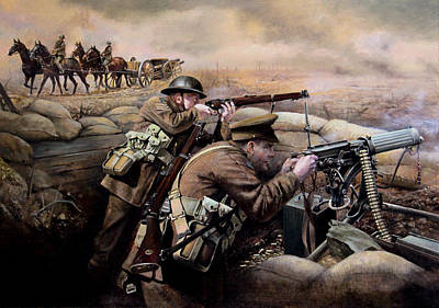 Infantryman Painting - the battle of Fromelles by Chris Collingwood