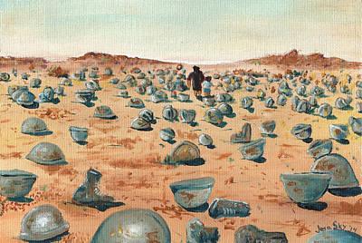 Iraq War Painting - The Battlefield by Jera Sky