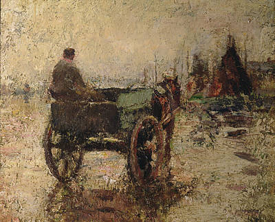 Horse And Cart Painting - The Beach At St Ives by Harry Fidler