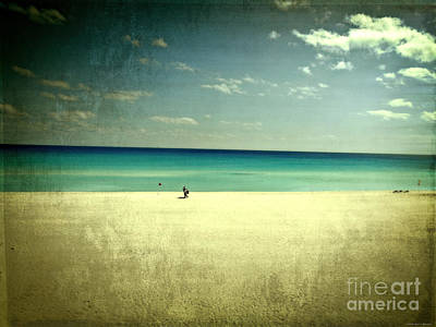 The Beach - From My Iphone Print by Mary Machare