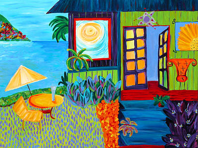 Tropical Painting - The Beach House by Beth Cooper